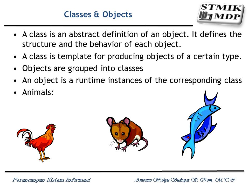 Classes & Objects A class is an abstract definition of an object. It defines the structure and the behavior of each object.