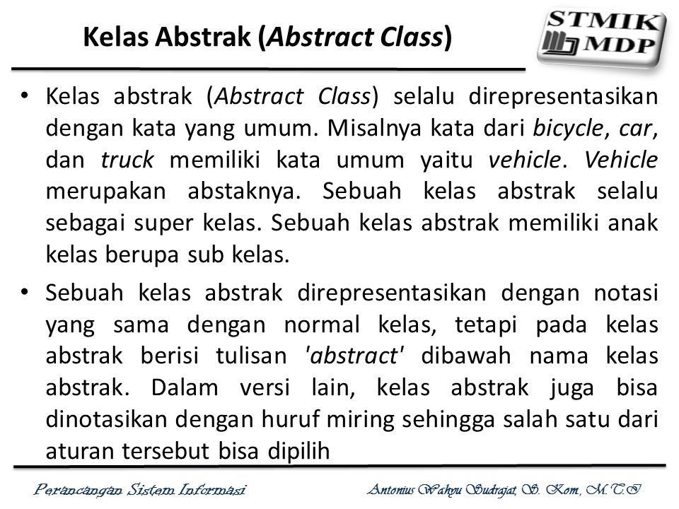 Kelas Abstrak (Abstract Class)