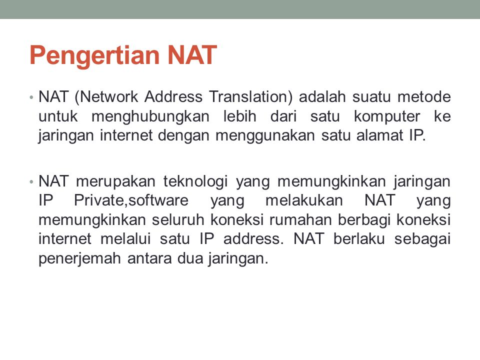 Pengertian NAT