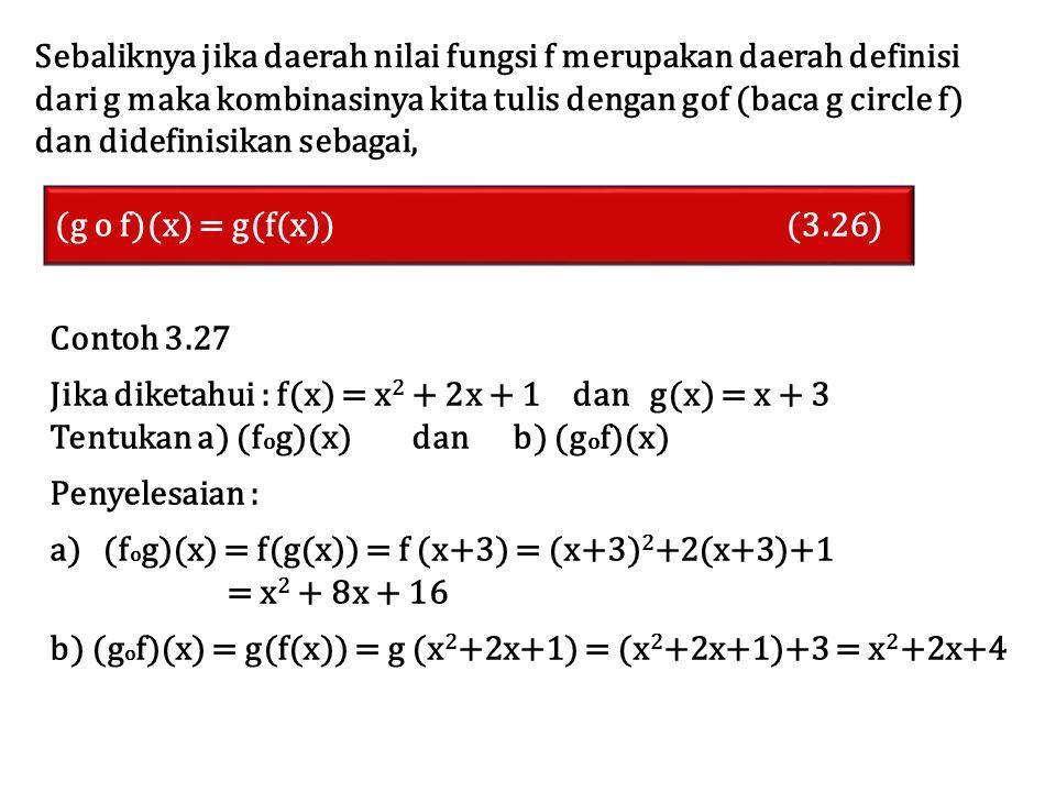 Sebaliknya jika daerah nilai fungsi f merupakan daerah definisi