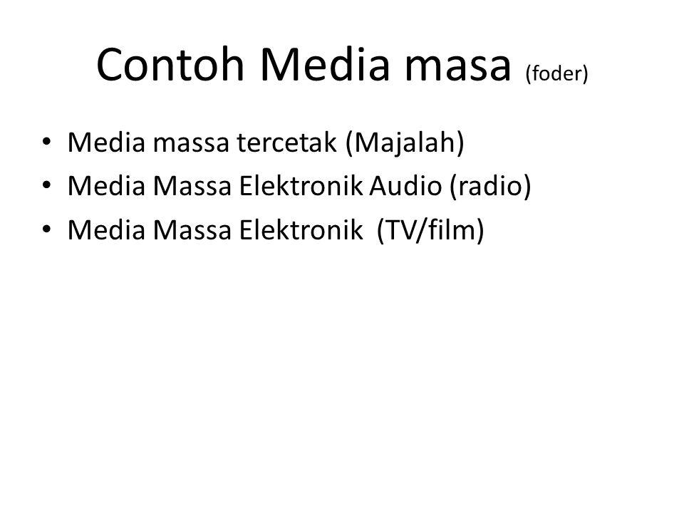 Contoh Media masa (foder)