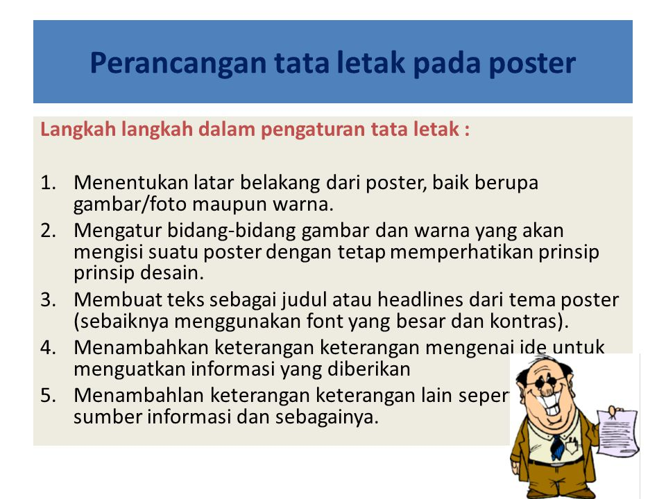 Perancangan tata letak pada poster