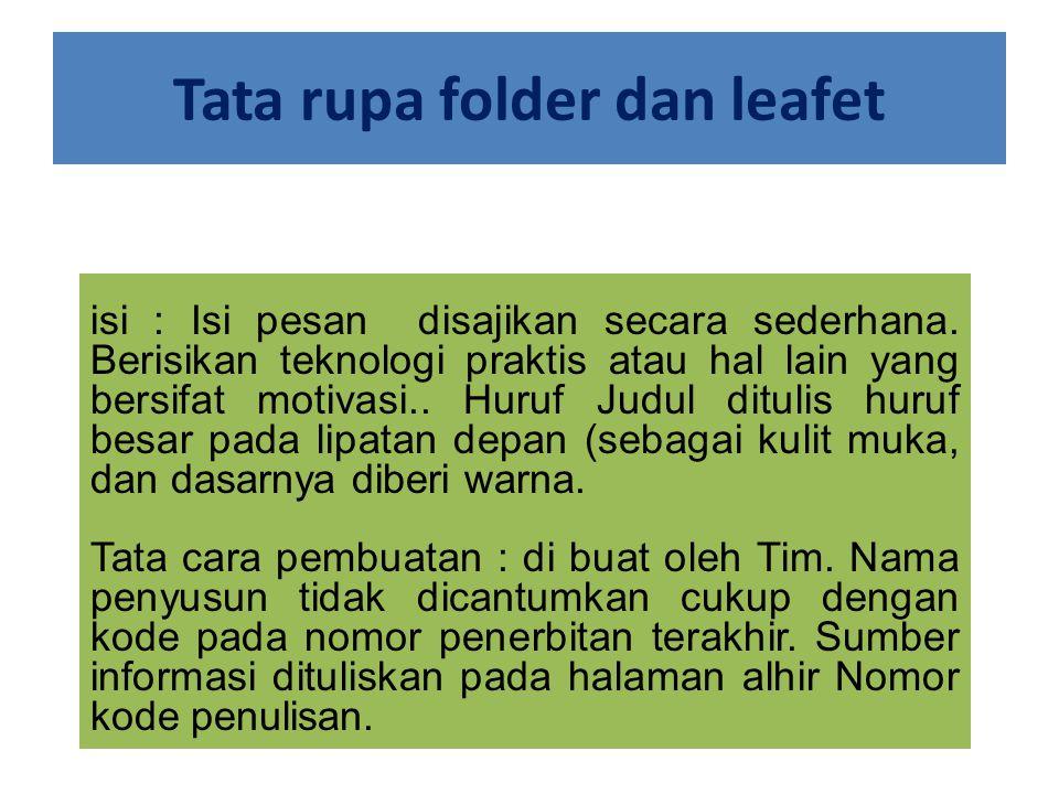Tata rupa folder dan leafet