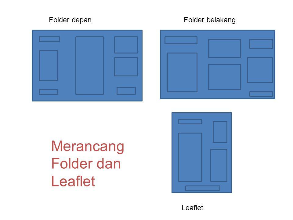 Merancang Folder dan Leaflet