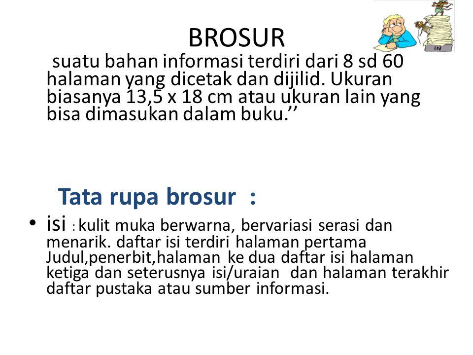 BROSUR Tata rupa brosur :