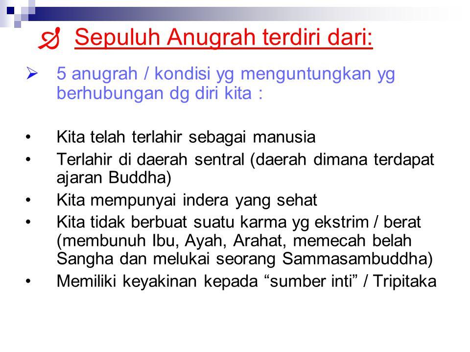 Sepuluh Anugrah terdiri dari:
