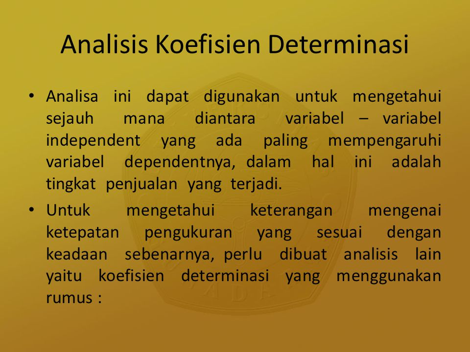 Analisis Koefisien Determinasi