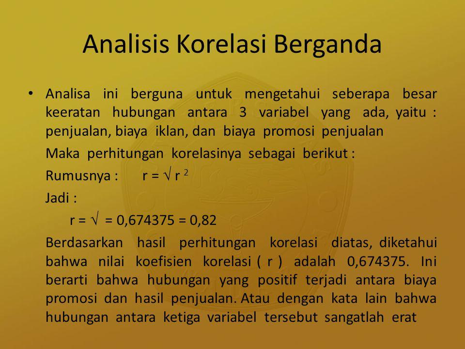 Analisis Korelasi Berganda
