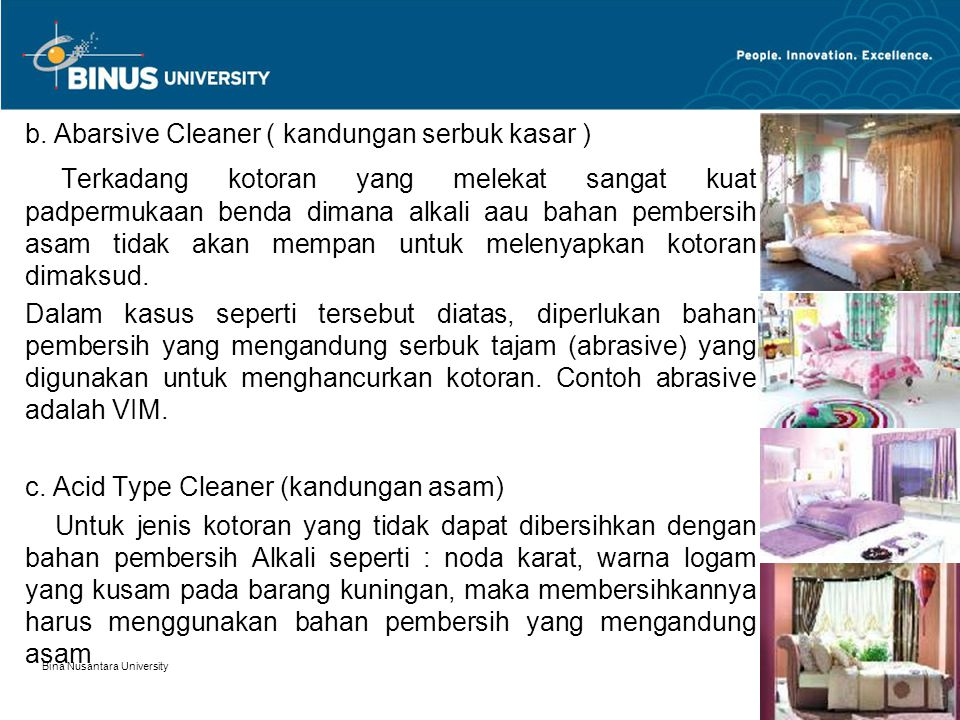b. Abarsive Cleaner ( kandungan serbuk kasar )