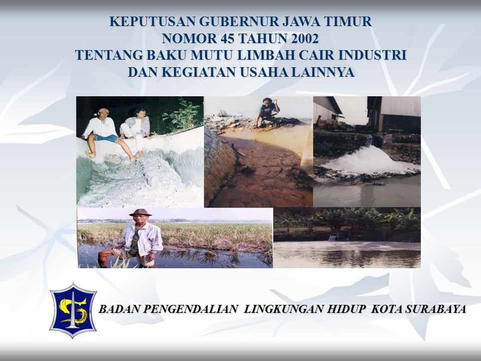 KEPUTUSAN GUBERNUR JAWA TIMUR NOMOR 45 TAHUN 2002