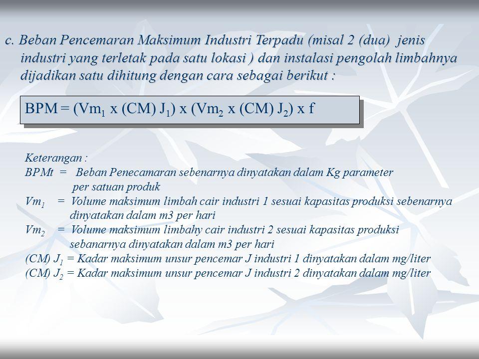 BPM = (Vm1 x (CM) J1) x (Vm2 x (CM) J2) x f