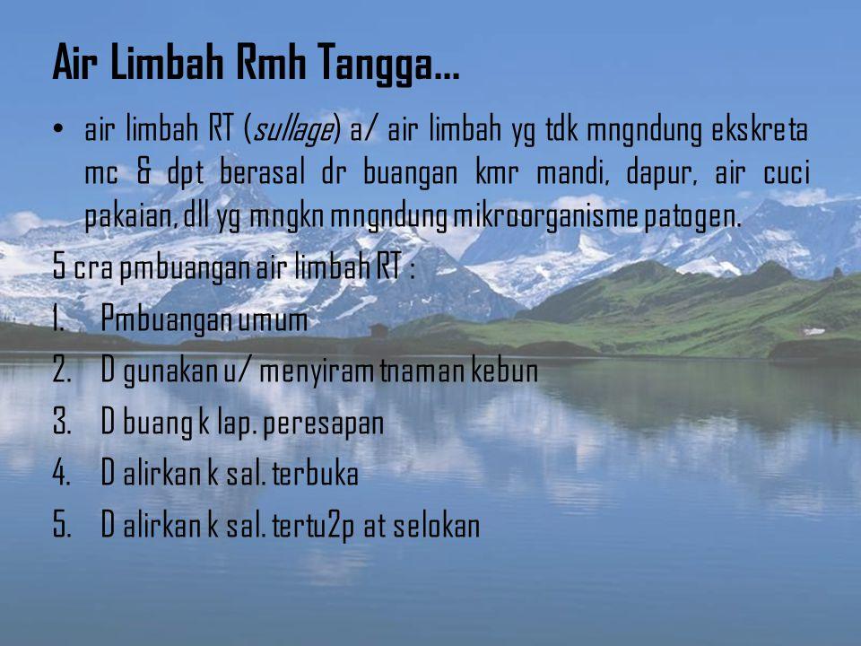 Air Limbah Rmh Tangga...