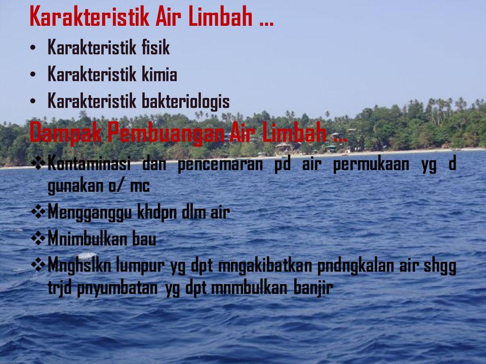 Karakteristik Air Limbah ...