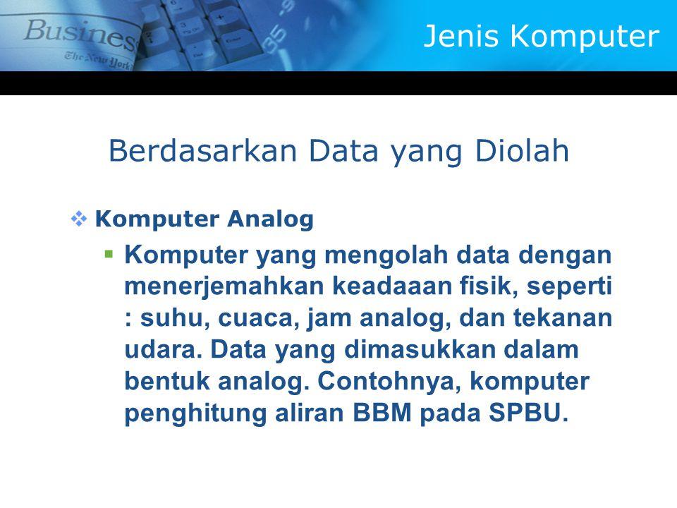 Berdasarkan Data yang Diolah