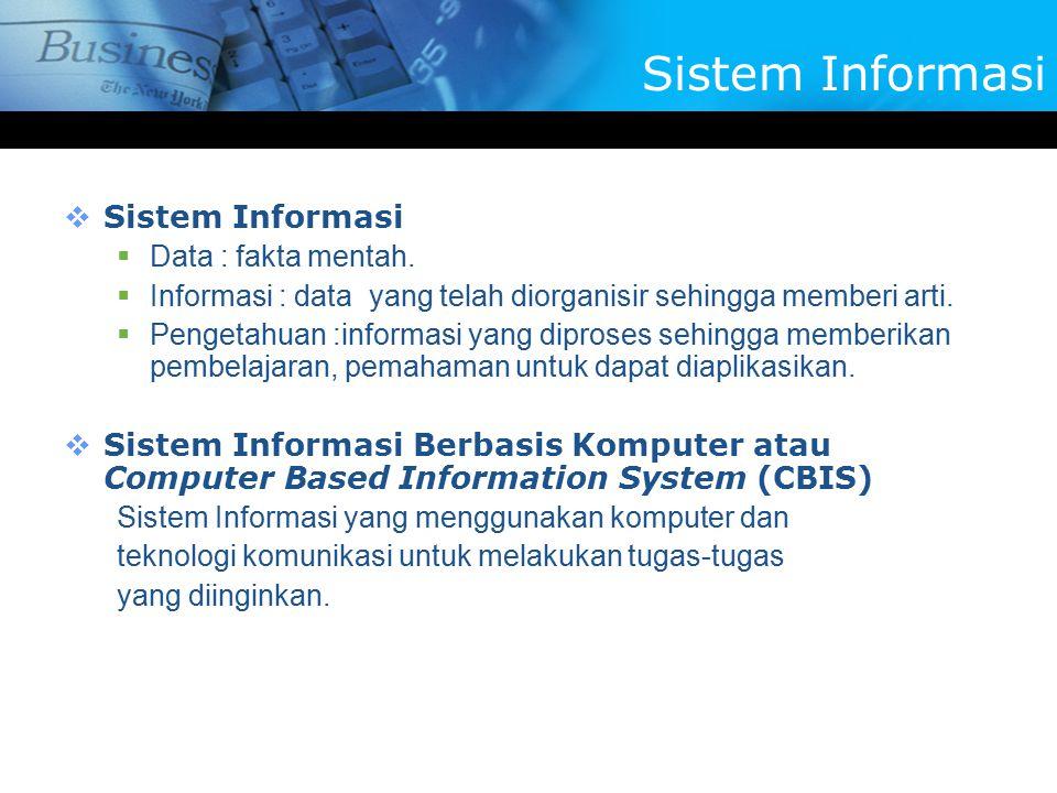 Sistem Informasi Sistem Informasi