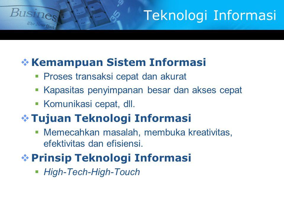 Teknologi Informasi Kemampuan Sistem Informasi