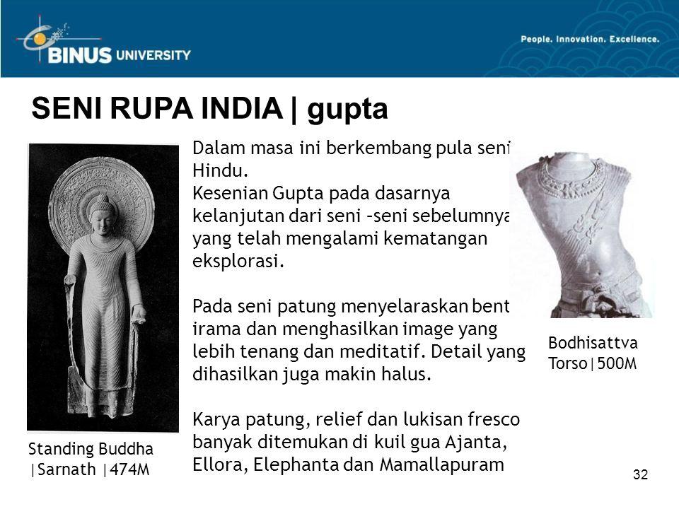 SENI RUPA INDIA | gupta Dalam masa ini berkembang pula seni Hindu.