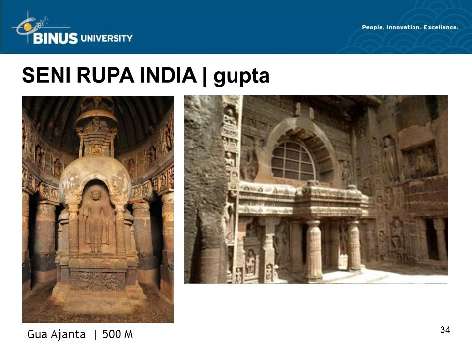 SENI RUPA INDIA | gupta Gua Ajanta | 500 M 34