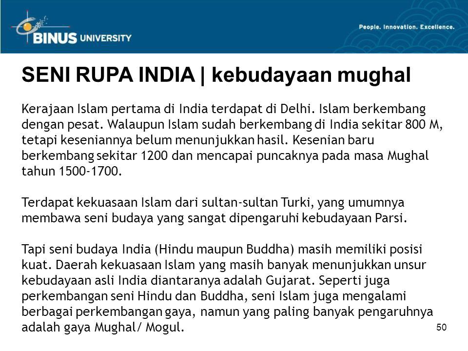 SENI RUPA INDIA | kebudayaan mughal
