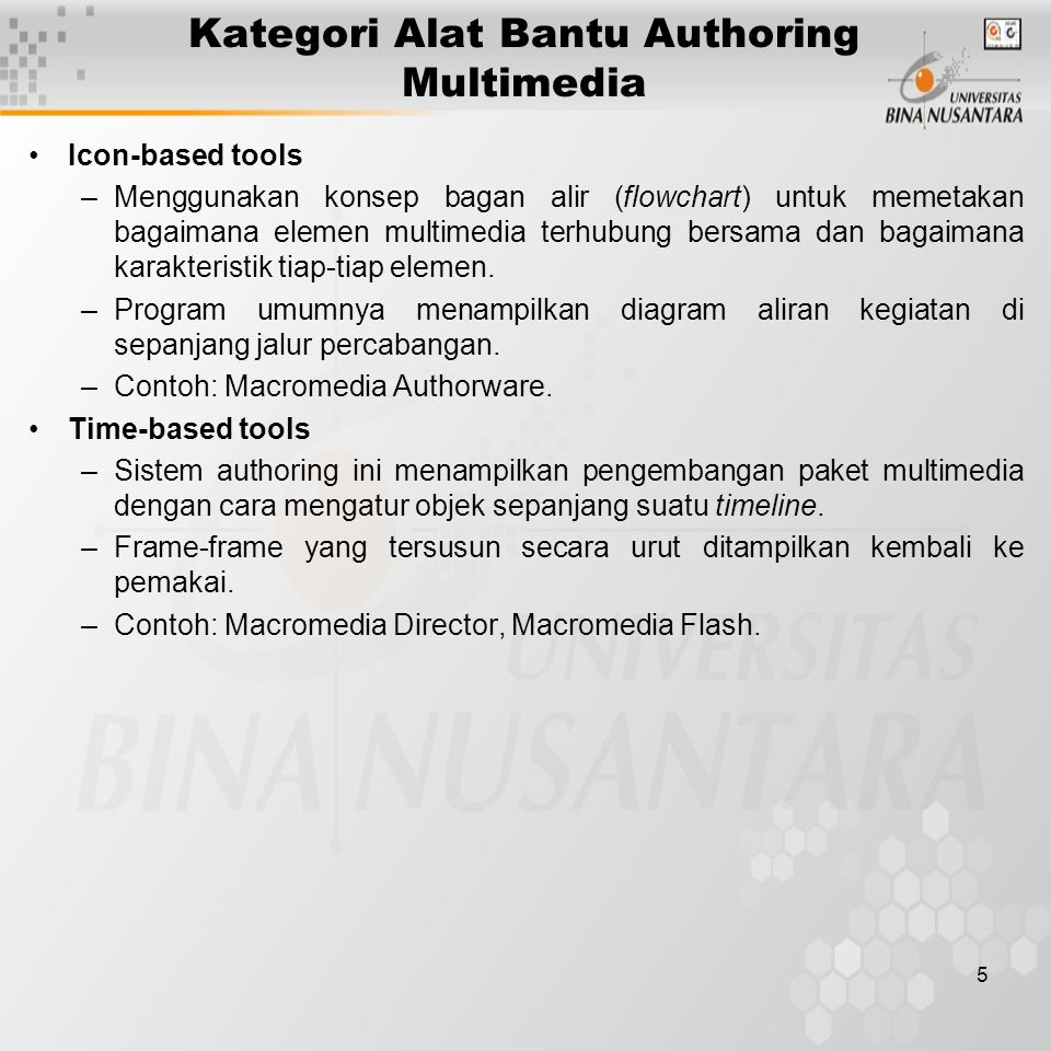 Kategori Alat Bantu Authoring Multimedia