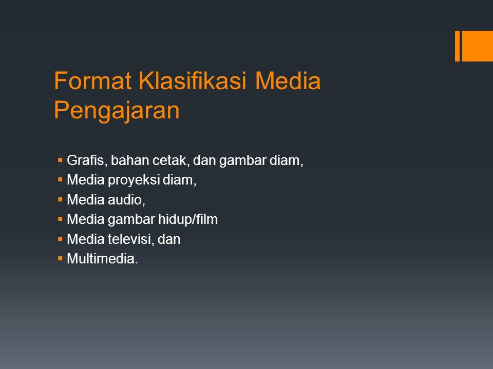 Format Klasifikasi Media Pengajaran