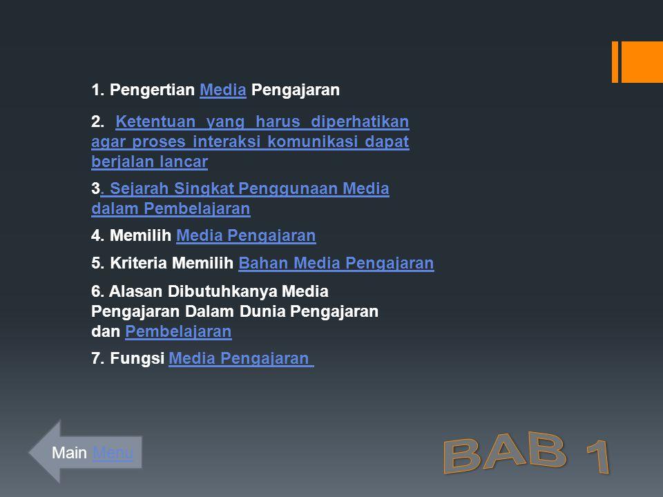 BAB 1 1. Pengertian Media Pengajaran