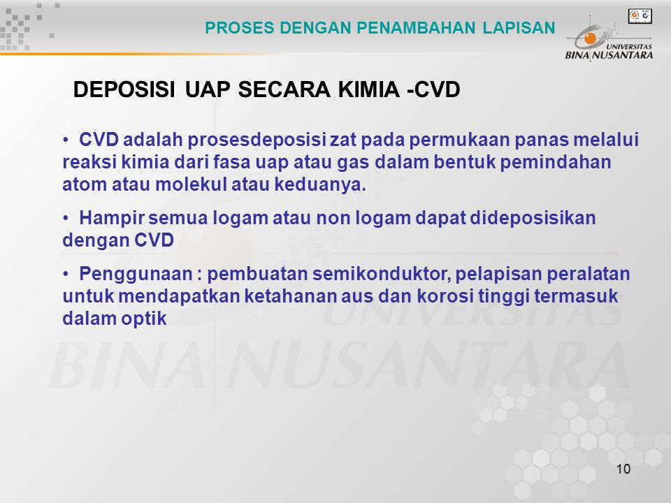 DEPOSISI UAP SECARA KIMIA -CVD