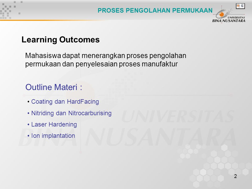 Learning Outcomes Outline Materi :