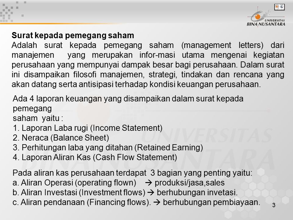 Surat kepada pemegang saham