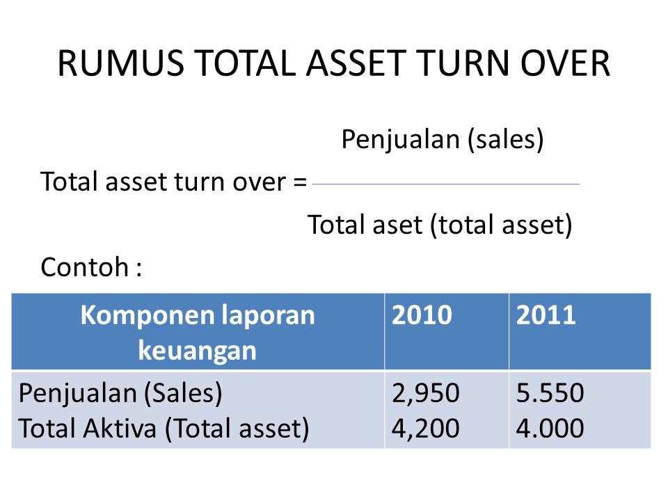 RUMUS TOTAL ASSET TURN OVER