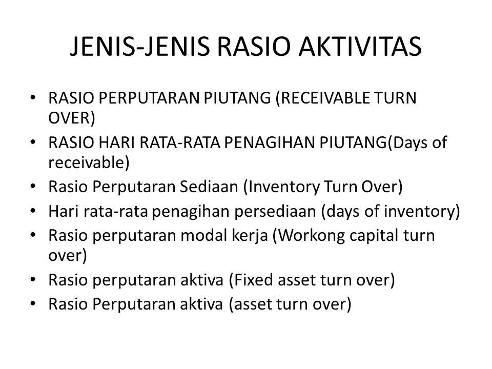 JENIS-JENIS RASIO AKTIVITAS