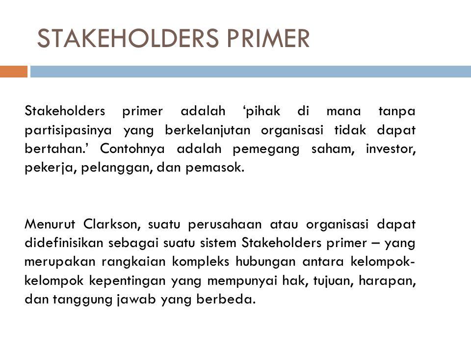 STAKEHOLDERS PRIMER