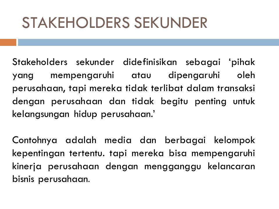 STAKEHOLDERS SEKUNDER