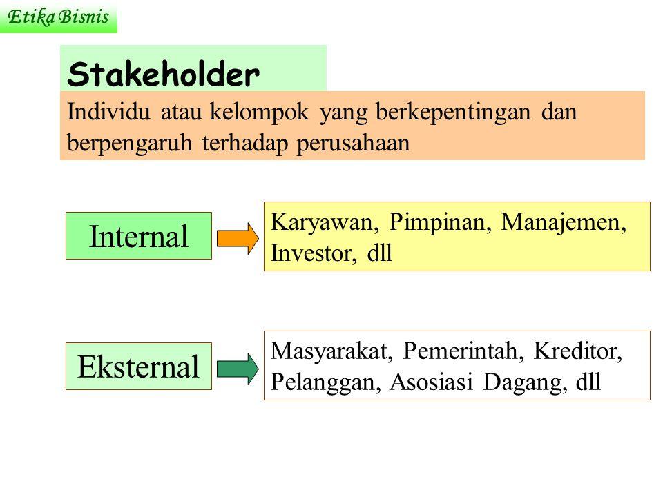 Stakeholder Internal Eksternal