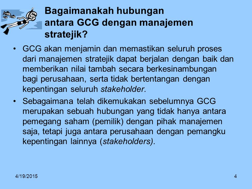 Bagaimanakah hubungan antara GCG dengan manajemen stratejik