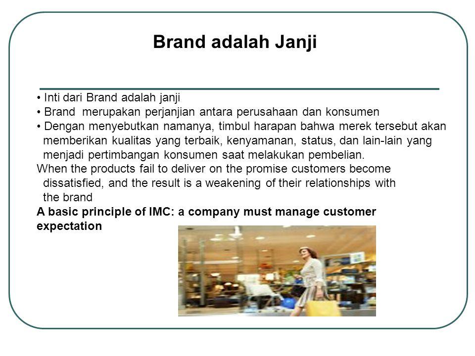 Brand adalah Janji Inti dari Brand adalah janji
