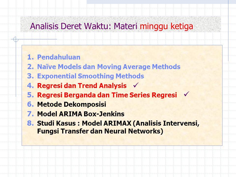 Analisis Deret Waktu: Materi minggu ketiga