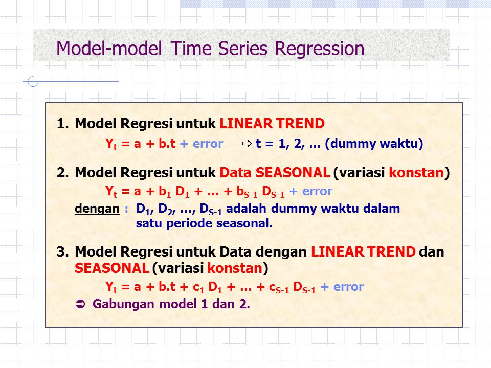 Model-model Time Series Regression