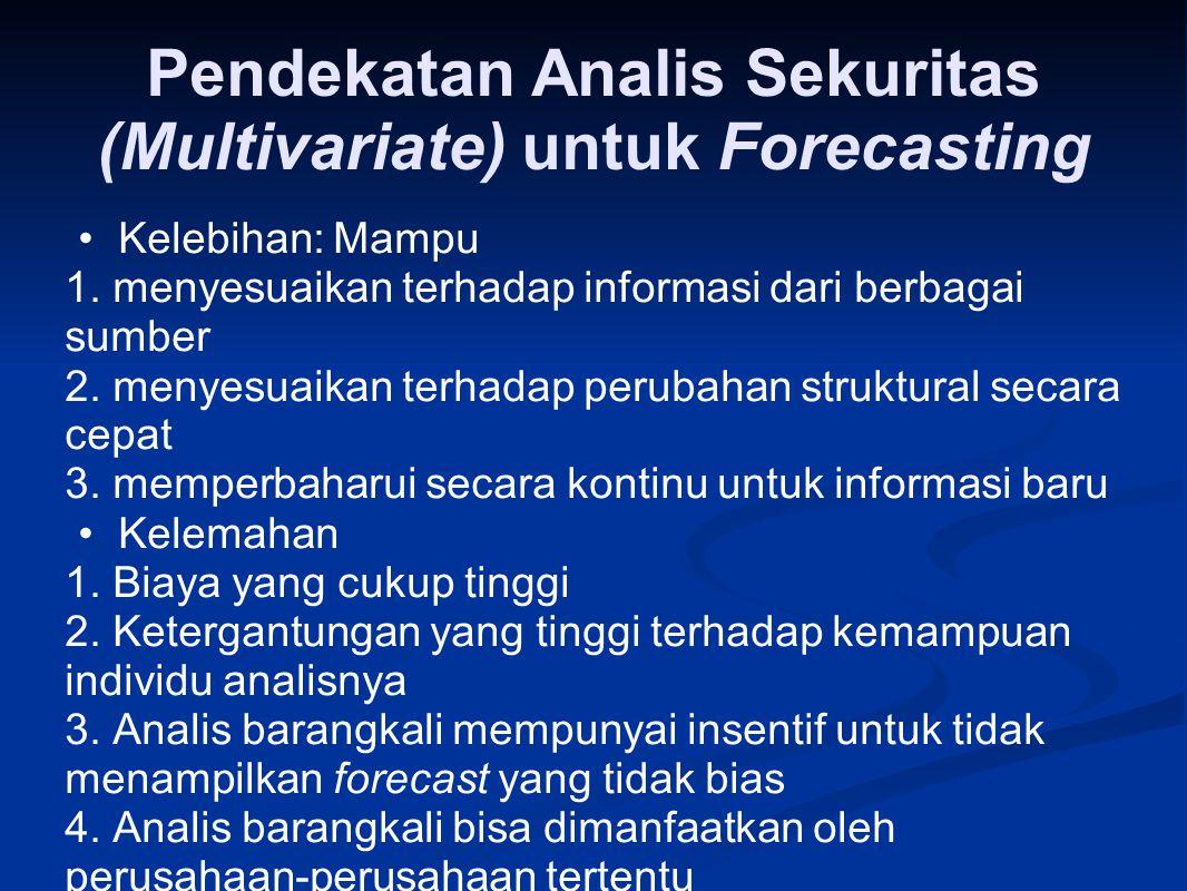 Pendekatan Analis Sekuritas (Multivariate) untuk Forecasting