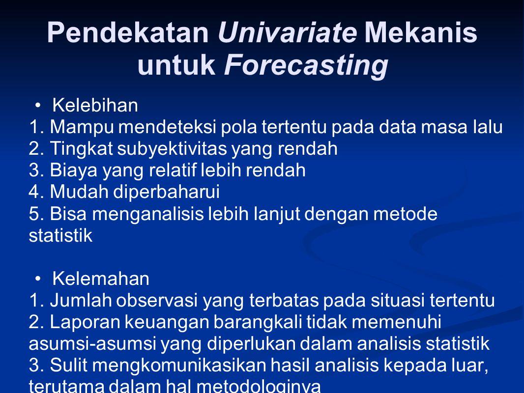 Pendekatan Univariate Mekanis untuk Forecasting
