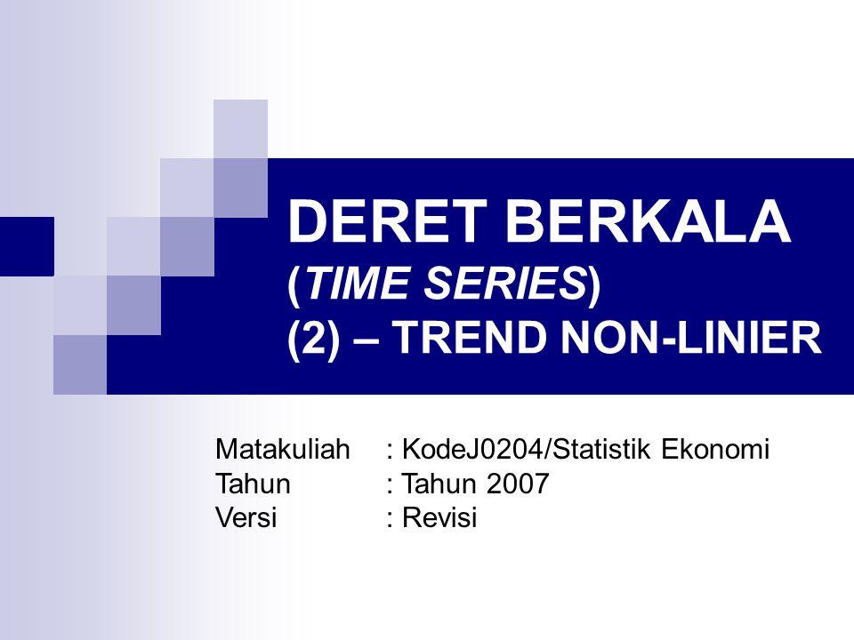 DERET BERKALA (TIME SERIES) (2) – TREND NON-LINIER
