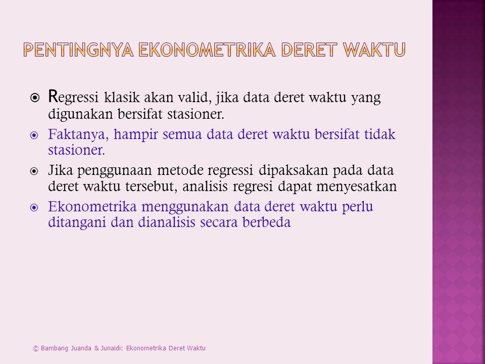 Pentingnya Ekonometrika Deret Waktu