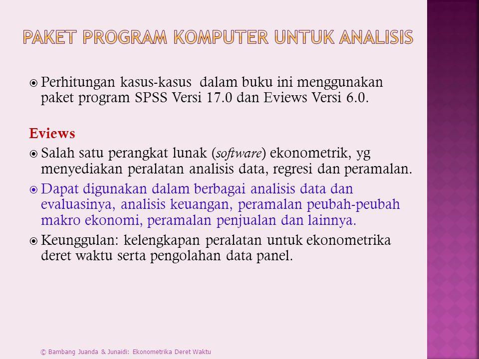 Paket Program Komputer untuk Analisis