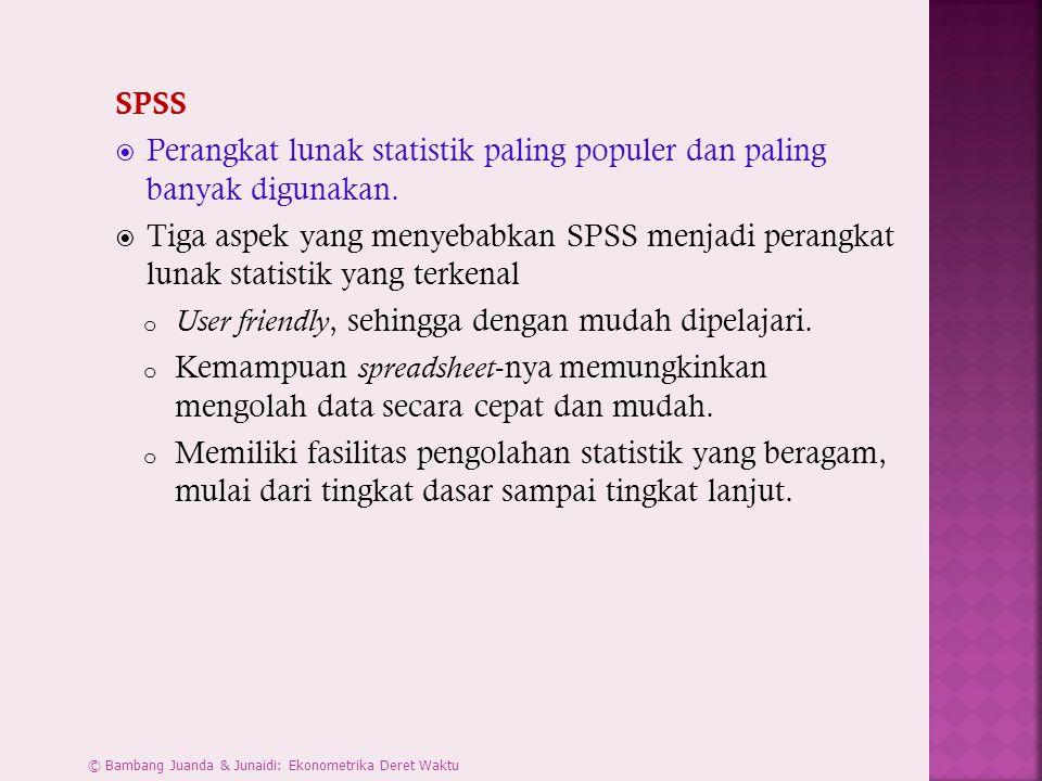Perangkat lunak statistik paling populer dan paling banyak digunakan.