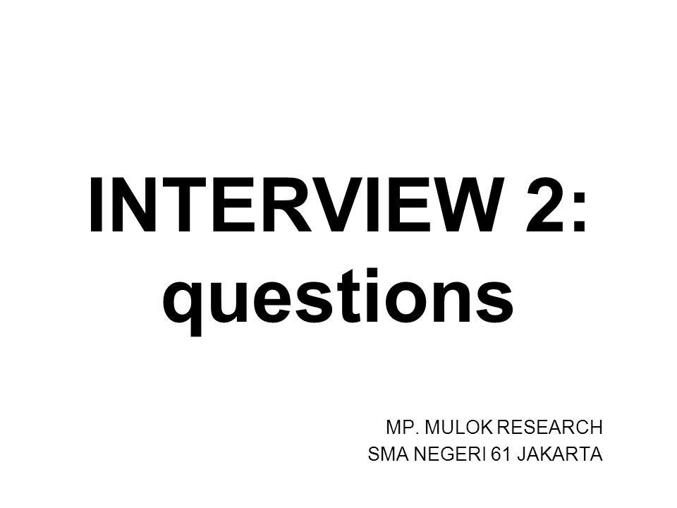 MP. MULOK RESEARCH SMA NEGERI 61 JAKARTA