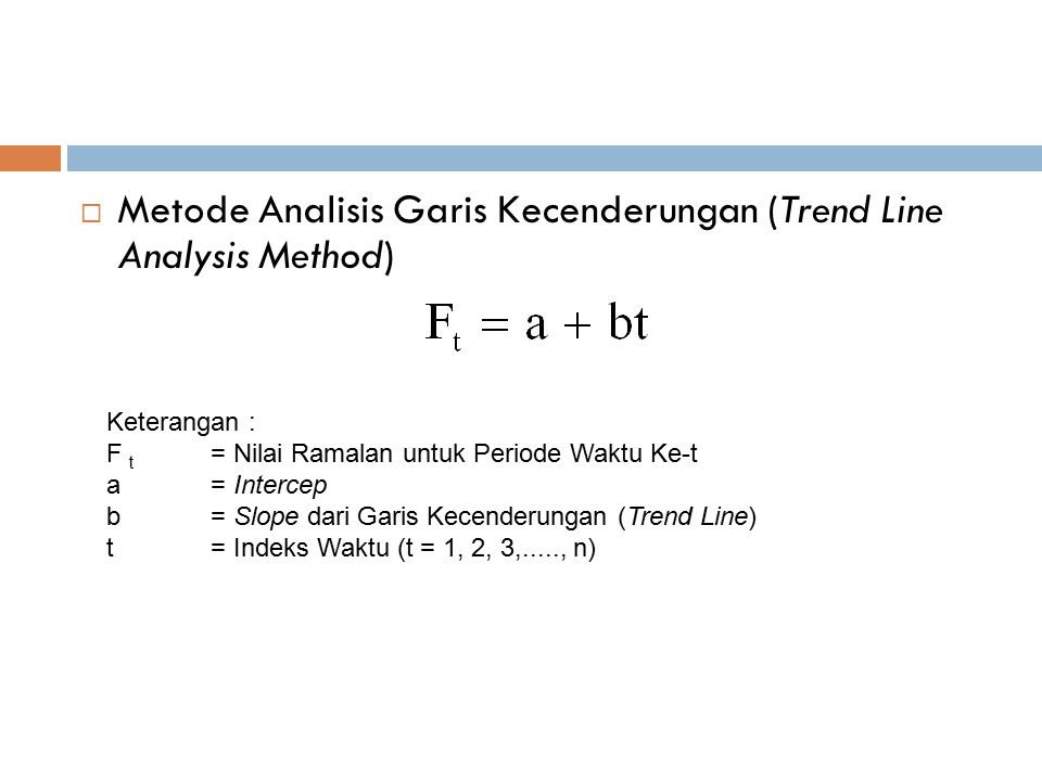 Metode Analisis Garis Kecenderungan (Trend Line Analysis Method)