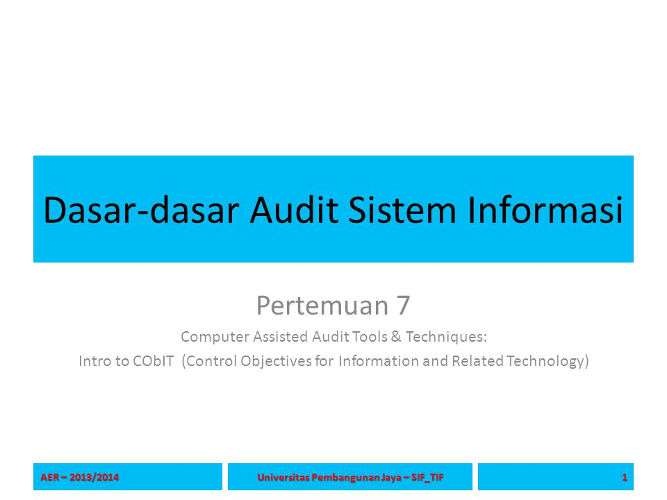 Dasar-dasar Audit Sistem Informasi