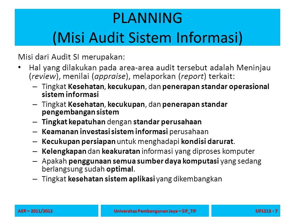 PLANNING (Misi Audit Sistem Informasi)