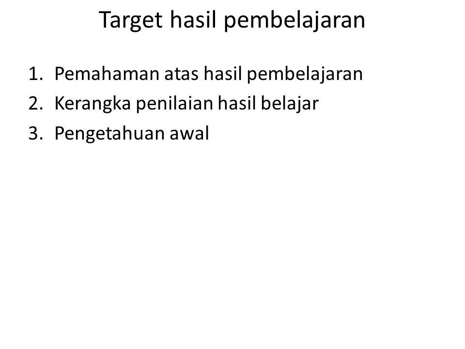 Target hasil pembelajaran