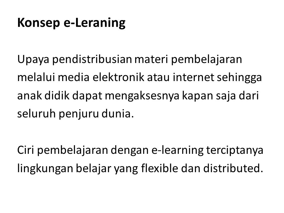 Konsep e-Leraning